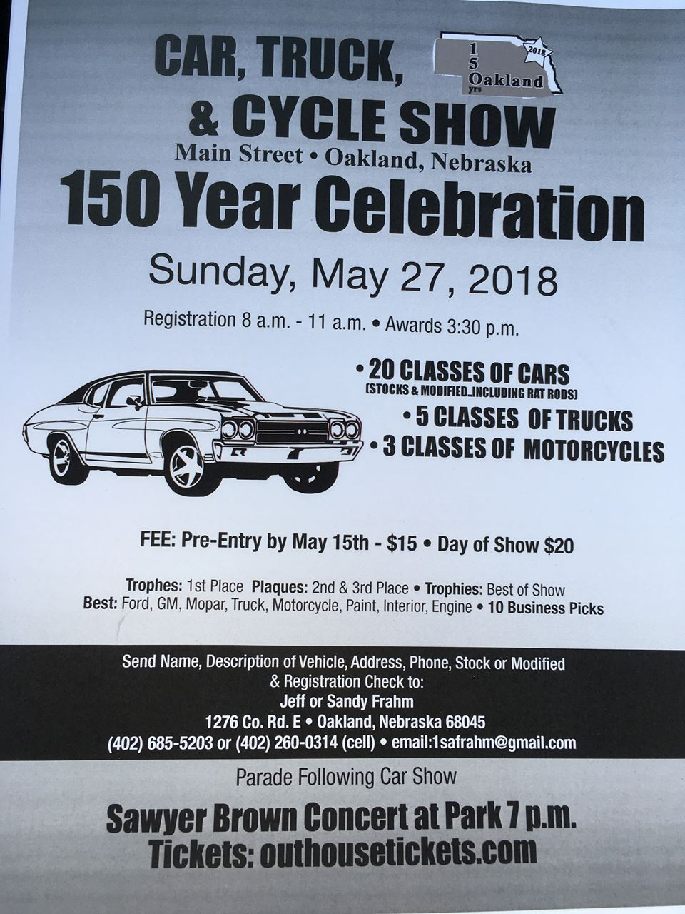 Nebraska Rod And Custom Association Oakland Year Celebration - Oakland car show